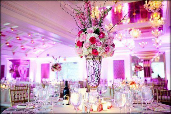 centros de mesa con flores naturales para 15 anos